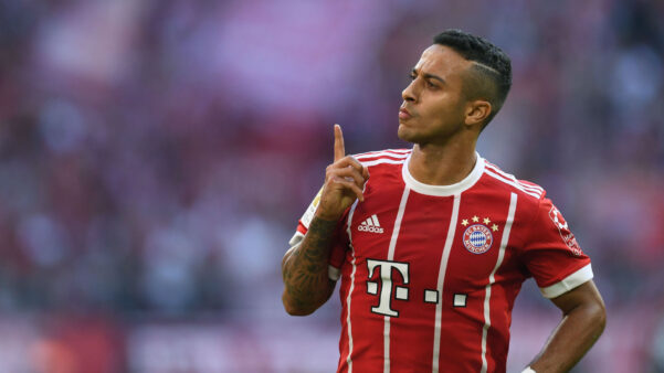 Thiago Alcântara em ação pelo Bayern de Munique