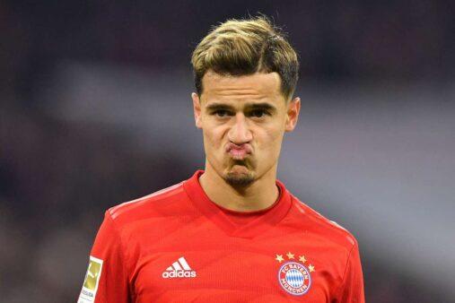 Philippe Coutinho em ação pelo Bayern de Munique
