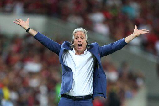 Jorge Jesus em ação pelo Flamengo