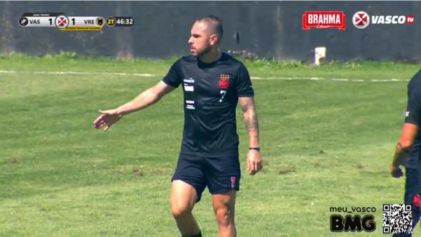 Bruno César marcou golaço de falta pelo Vasco.
