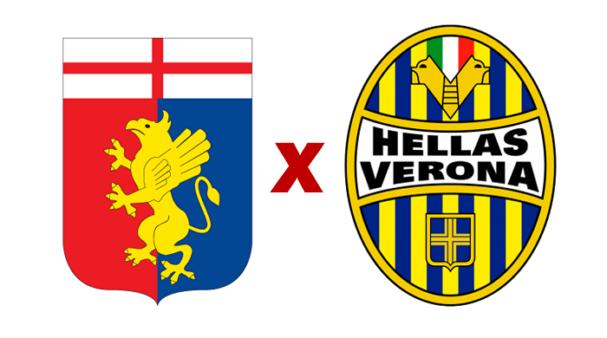 Genoa x Hellas Verona (Reprodução/ Arte/ Escudos/ Montagem: Adriano Oliveira)