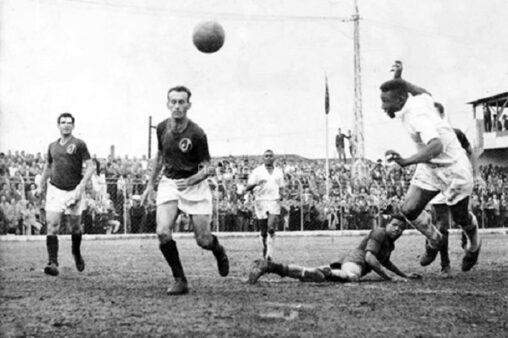 Gol de Pelé contra o Juventus (Reprodução/ Site oficial Santos FC)