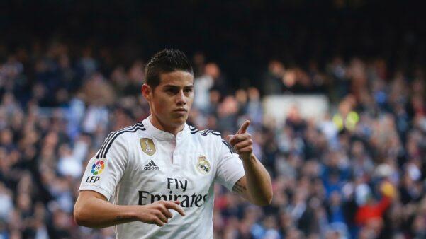 James Rodríguez em ação pelo Real Madrid