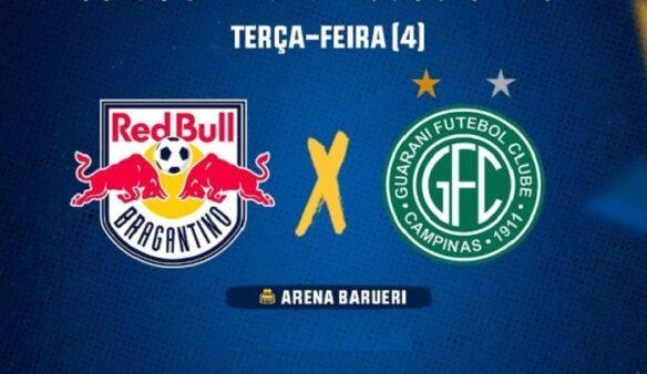 Red Bull Bragantino x Guarani (Reprodução/ Facebook oficial Federação Paulista de Futebol)