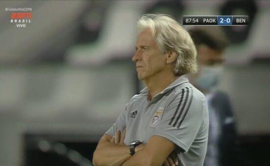 Jorge Jesus eliminado no Benfica