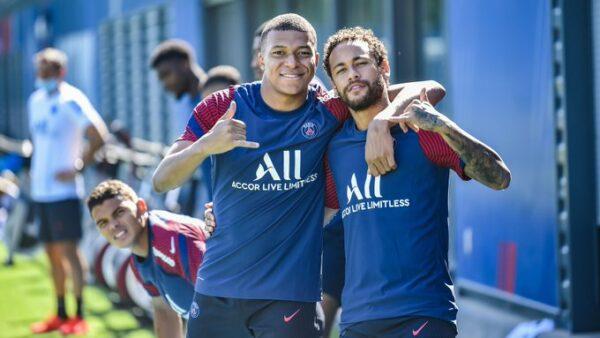 Neymar e Mbappé Champions League