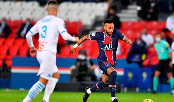 Neymar em Olympique x PSG