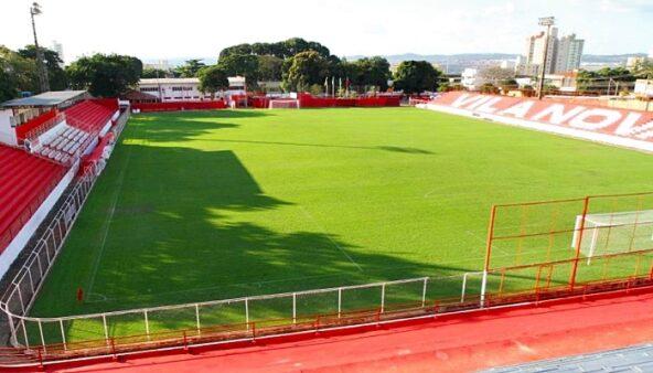 Vila Nova x Treze AO VIVO - Estádio Onésio Brasileiro Alvarenga (OBA), em Goiânia (Reprodução/ Twitter Série C)