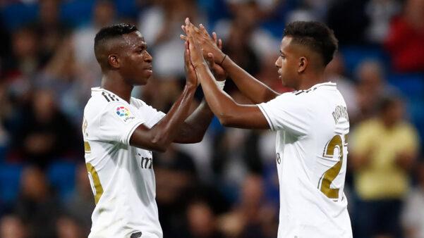 Vinicius Jr e Rodrygo estão no Real Madrid.