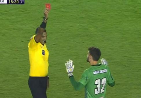 Santos x Atlético-mg Rafael expulso