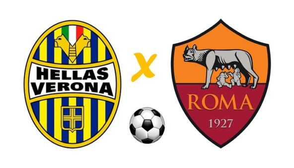 Hellas Verona x Roma AO VIVO (Reprodução/ Arte: Adriano Oliveira)