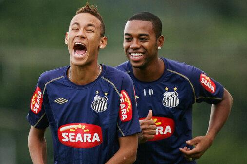 Robinho, Neymar, Santos