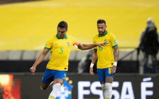 Casemiro e Neymar pela Seleção cbf copa américa