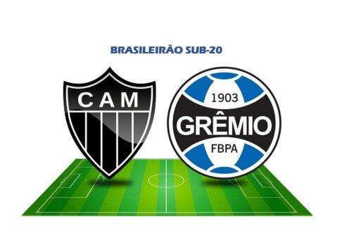 Atlético-MG x Grêmio AO VIVO pelo Brasileirão Sub-20 (Reprodução/ Arte: Adriano Oliveira)