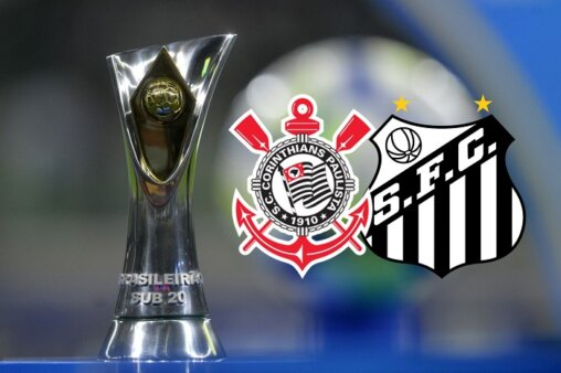 Corinthians x Santos AO VIVO pelo Brasileirão Sub-20 - Mauro Horita/ CBF (Arte: Adriano Oliveira)