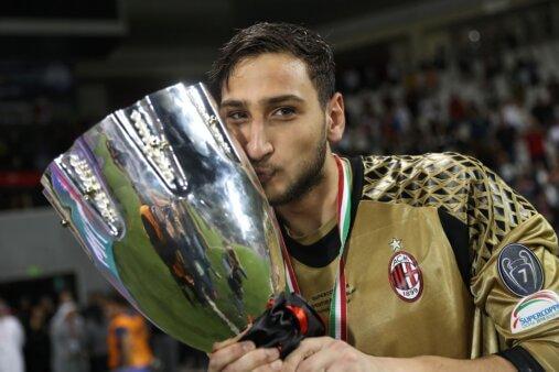 Gigi Donnarumma em ação pelo Milan