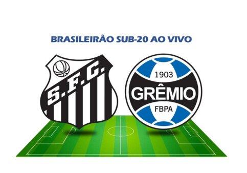 Assista Santos x Grêmio AO VIVO pelo Brasileirão Sub-20 - Reprodução/ Arte: Adriano Oliveira