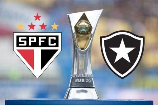 Assista São Paulo x Botafogo AO VIVO pelo Brasileirão Sub-20 (Divulgação/ Arte: Adriano Oliveira)