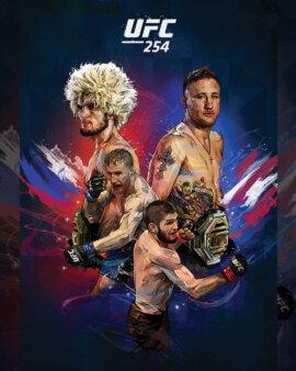 UFC 254 poster