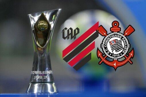 Assista Athletico x Corinthians AO VIVO pela 13ª rodada do Brasileirão Sub-20 (Foto: Divulgação/ Arte: Adriano Oliveira)