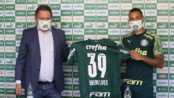 Breno Lopes é o novo reforço do Palmeiras.