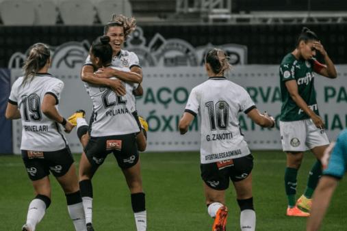 Corinthians 3x0 Palmeiras Gol olímpico Brasileirão Feminino