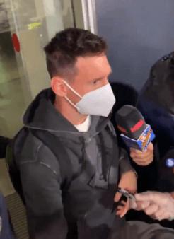 Messi se irritou com pergunta sobre Griezmann.