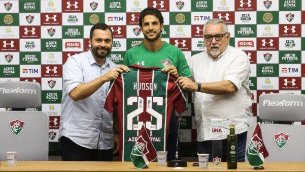 Hudson em ação pelo Fluminense