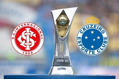 Assista Internacional x Cruzeiro AO VIVO pela 15ª rodada do Brasileirão Sub-20 - Foto: Lucas Figueiredo/ CBF (Arte: Adriano Oliveira)