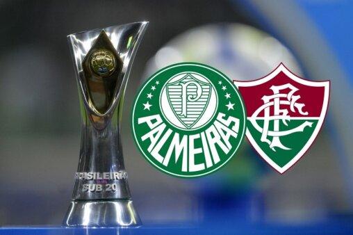 Assista Palmeiras x Fluminense AO VIVO pela 13ª rodada do Brasileirão Sub-20 (Divulgação/ Arte: Adriano Oliveira)