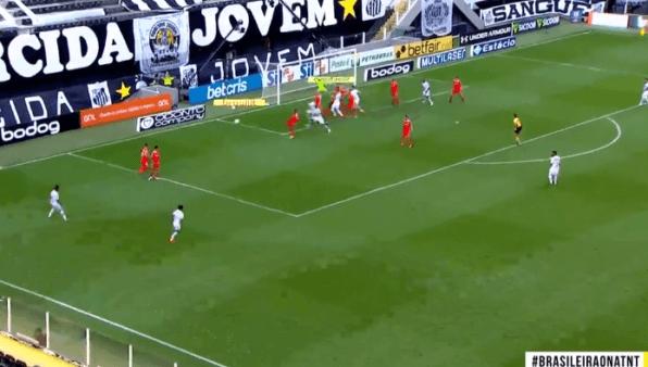 Santos x Internacional gols