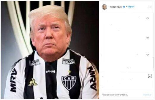Trump, Galo, Milton Neves