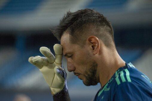 Diego Alves em ação pelo Flamengo
