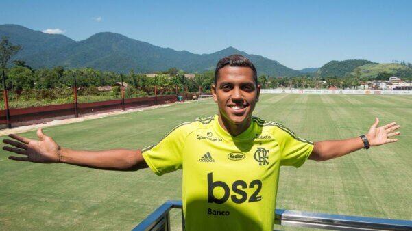 Pedro Rocha em ação pelo Flamengo