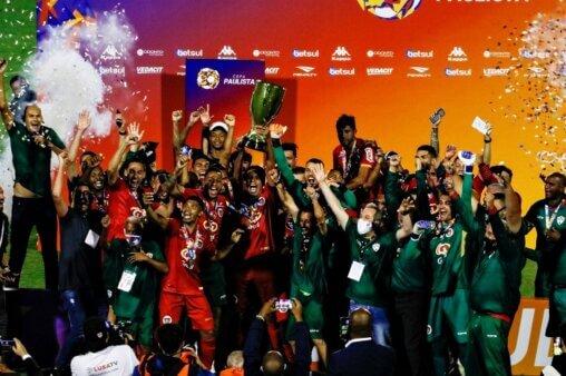 Portuguesa é campeã da Copa Paulista de 2020 (Foto: Divulgação/ Facebook oficial da Associação Portuguesa de Desportos)