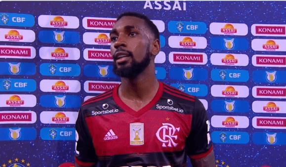 Gerson denunciou racismo em Flamengo x Bahia.
