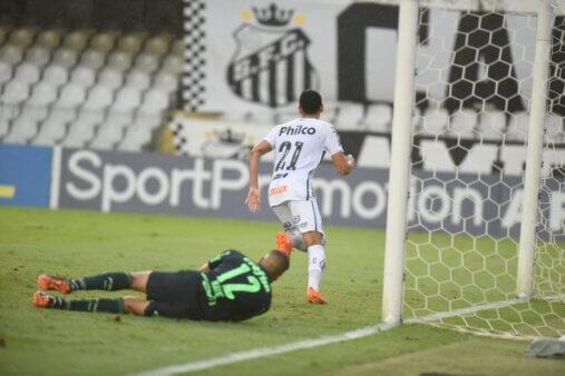 Diego Pituca em Santos x Palmeiras