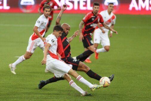 River Plate e Athletico se enfrentam pela Copa Libertadores. Foto: Reprodução/Twitter RIver Plate
