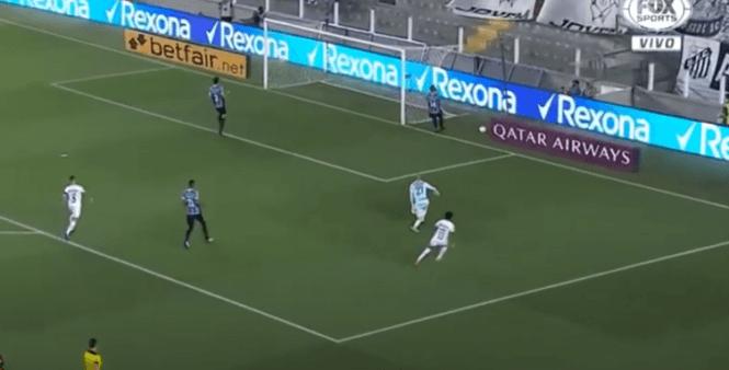 Santos x Grêmio gols