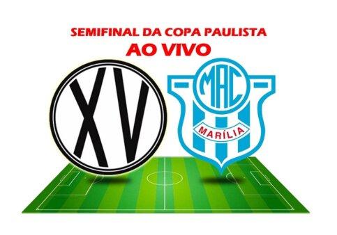 Assista XV de Piracicaba x Marília AO VIVO pelas semifinais da Copa Paulista (Reprodução/ Arte: Adriano Oliveira)