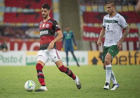 No jogo do primeiro turno, disputado no Maracanã, o Flamengo superou o Goiás pelo placar de 2 x 1 (Foto: Alexandre Vidal/ Flamengo)