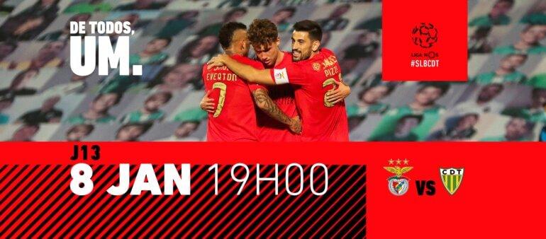 Benfica x Tondela guia