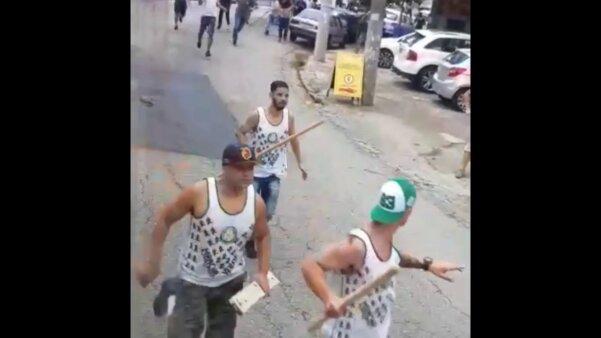 Briga torcedores Corinthians Palmeiras
