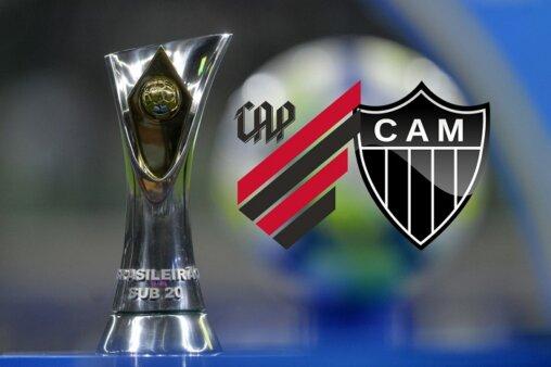Assista Athletico Paranaense x Atlético-MG AO VIVO pela decisão do Brasileirão Sub-20 - Divulgação/ CBF (Arte: Adriano Oliveira)
