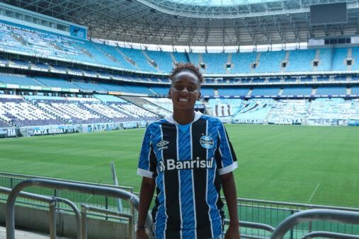 Maiara Lisboa em ação pelo Grêmio