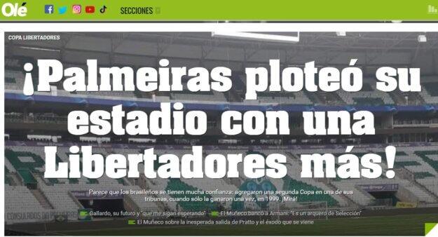 Mosaico, Palmeiras, Libertadores
