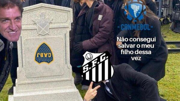 Santos memes Boca Juniors