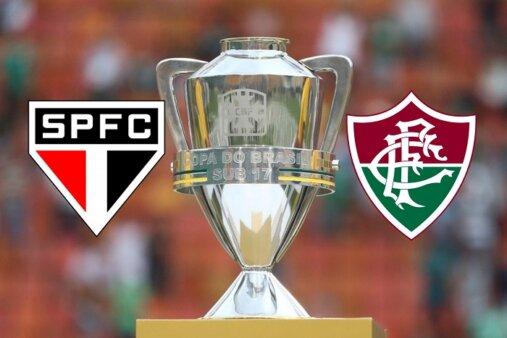 São Paulo x Fluminense: onde assistir AO VIVO na TV e online à final da Copa do Brasil Sub-17 - Foto: Lucas Figueiredo/ CBF (Arte: Adriano Oliveira)