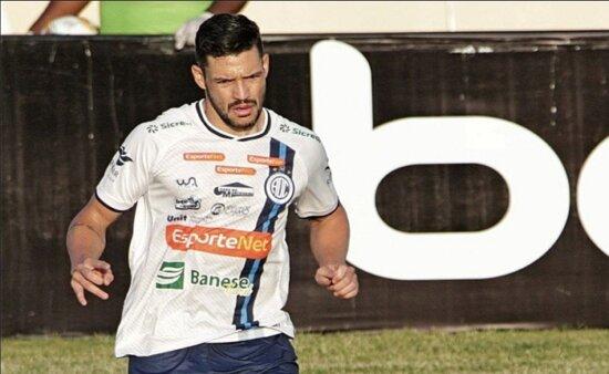 Luan Bueno, zagueiro do Confiança (Foto: Emanuel Rocha)