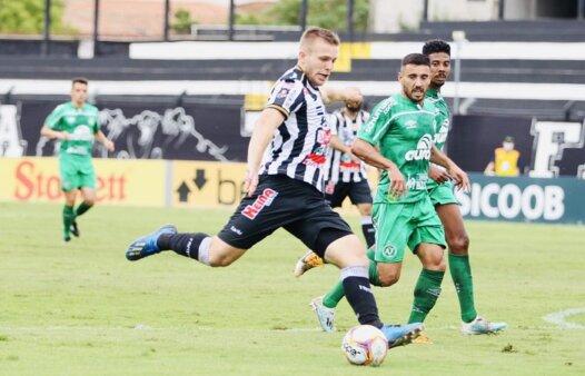 Fábio Alemão celebra primeiro gol pelo Operário-PR e destaca força do elenco em vitória sobre a Chapecoense (Foto: André Jonsson/ Divulgação/ OFEC)